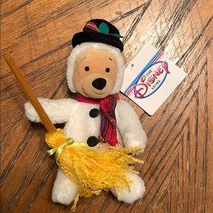 Winnie the Pooh snowman mini beanbag 8 inches
